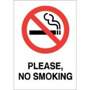 No Smoking safety sign - Please No Smoking 030